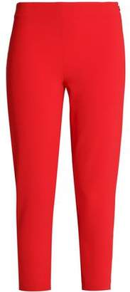 Moschino Cropped Crepe Tapered Pants