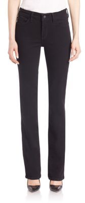 NYDJ Solid Straight Leg Jeans $134 thestylecure.com