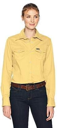 Wrangler Women's Long Sleeve Western Snap Work Shirt