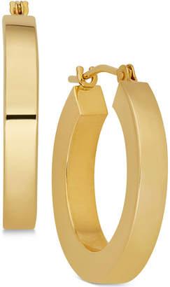Macy's Polished Chunky Flat-Edge Tube Hoop Earrings in 14k Gold