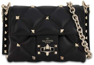 Valentino MINI CANDY STUDS LEATHER SHOULDER BAG