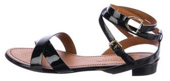 Ralph Lauren Collection Patent Leather Crossover Sandals