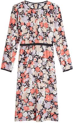 Agnona Floral Midi Dress with Silk