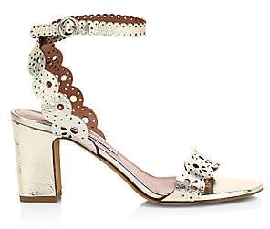 Tabitha Simmons Women's Bobbin Block Cutwork Sandals