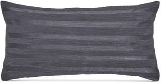 "Donna Karan Home Moonscape Corded Stripe Charcoal 11"" x 22"" Decorative Pillow Bedding"