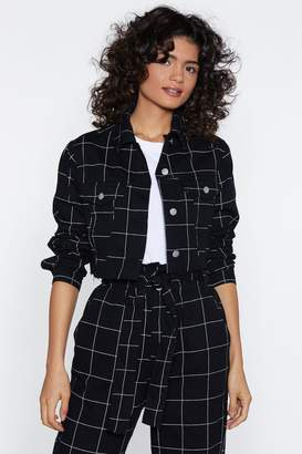 Nasty Gal Above the Grid Cropped Jacket