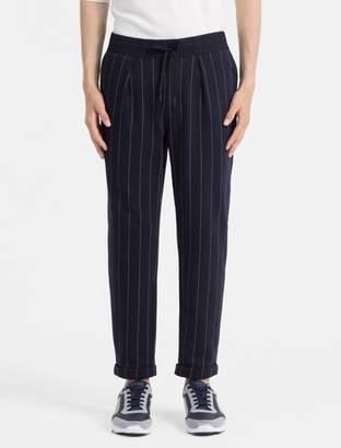 Calvin Klein tapered fit pinstripe sweatpants