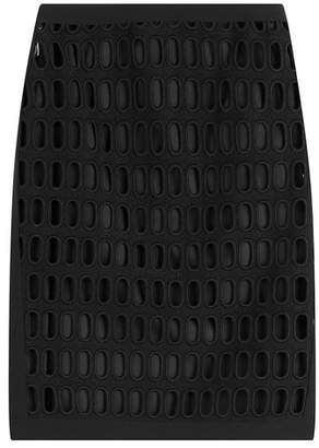Moschino Cotton Pencil Skirt with Cut-Out Detail