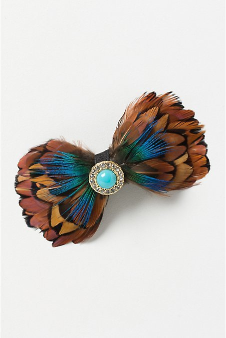 Jewelled Feather Clip