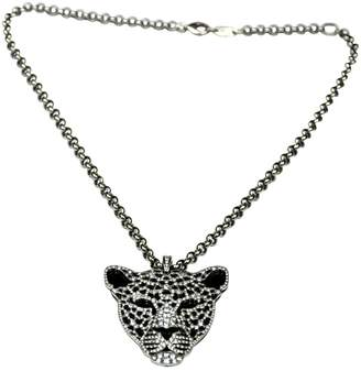 White gold long necklace