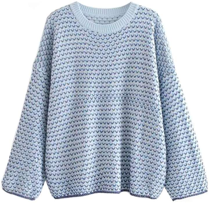 Goodnight Macaroon 'Michelle' Mixed Knit Crew Neck Sweater (3 Colors)
