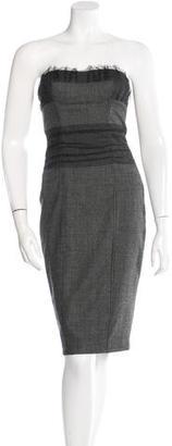 La Perla Lace-Accented Strapless Dress $145 thestylecure.com