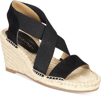Adrienne Vittadini Charlene Platform Wedge Sandals $69 thestylecure.com