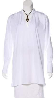 Valentino Chain-Accented Woven Tunic