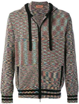 Missoni fine knit zipped hoodie