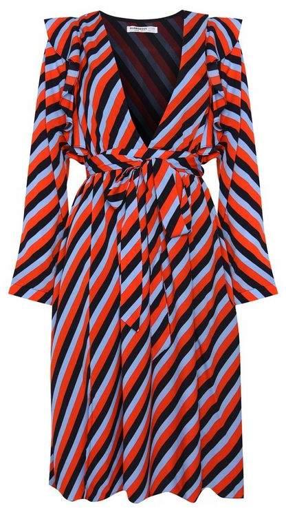 **Striped Midi Dress by Glamorous Petite