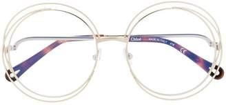 Chloé (クロエ) - Chloé Eyewear ワイヤーアクセント 眼鏡フレーム