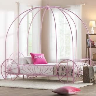 Zoomie Kids Brandy Twin Canopy Bed