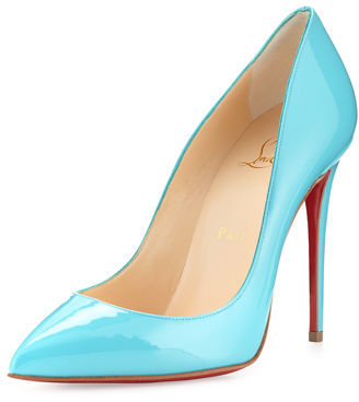 Christian Louboutin Pigalle Follies Patent 100mm Red Sole Pump $675 thestylecure.com