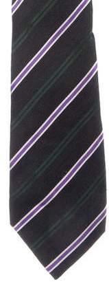 Kiton Wool & Silk Striped Tie