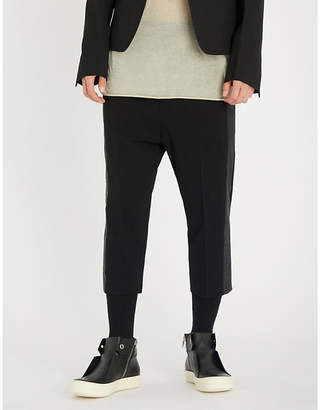 Rick Owens Astaires slim-fit dropped-crotch wool trousers
