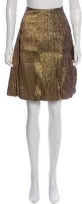 Dries Van Noten Metallic Knee-Length Skirt