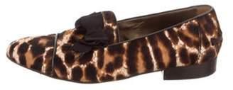 Lanvin Ponyhair Leopard Print Loafers Brown Ponyhair Leopard Print Loafers
