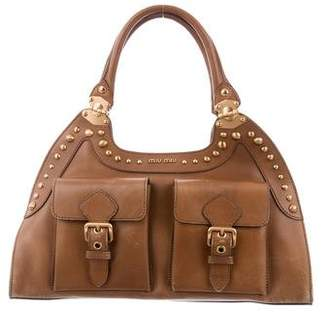 Miu Miu Leather Studded Bag