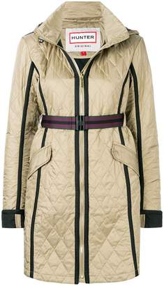 Hunter quilted hooded coat