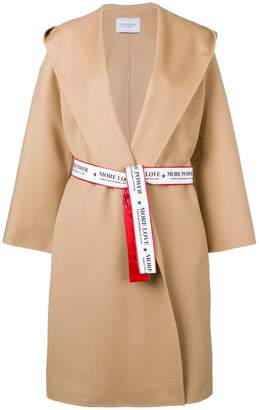 Couture Forte Dei Marmi hooded belted coat