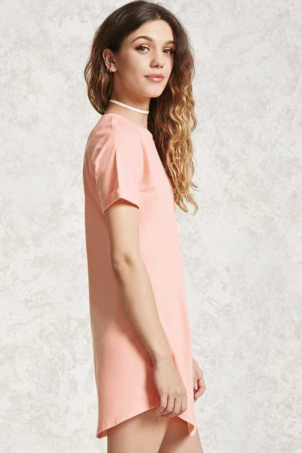 Forever 21 Crew Neck T-Shirt Dress
