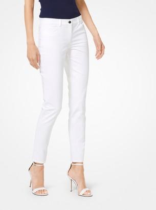 Michael Kors Stretch Cotton-Broadcloth Jeans
