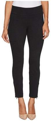 NYDJ Petite Petite Pull-On Legging Pants w/ Ankle Zip in Charcoal Women's Jeans