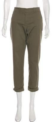 Veronica Beard Cuffed Mid-Rise Pants