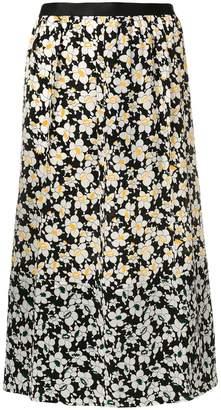Joseph A-line floral skirt