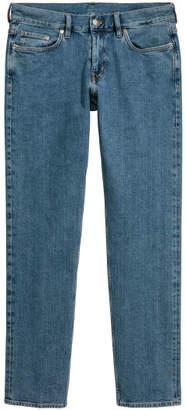H&M Straight Slim Selvedge Jeans - Blue
