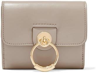 Chloé Tess Leather Wallet - Gray