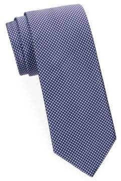 Brioni Mini Check Silk Tie