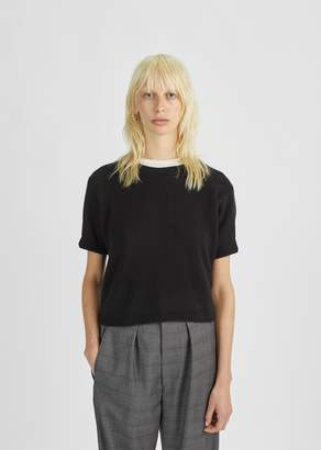 Isabel Marant Short Sleeved Cashmere Sweater Black
