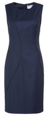 Hugo Boss Denesa Wool Sheath Dress 8 Patterned $625 thestylecure.com