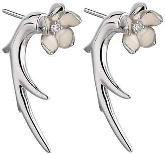 d7705948d Shaun Leane Silver Cherry Blossom Flower Talon Earrings