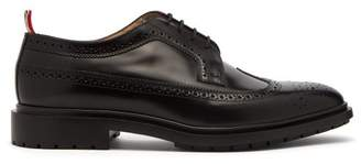 Thom Browne Longwing Patent Leather Brogues - Mens - Black