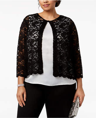 Connected Plus Size Lace Cardigan