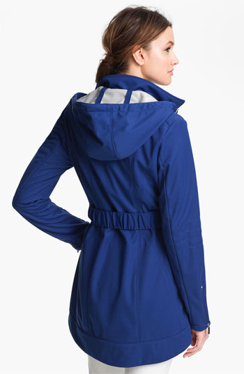 Laundry by Shelli Segal Softshell Coat with Detachable Hood