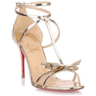 Christian Louboutin Blakissima 85 metallic leather sandal