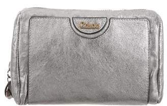 Chloé Metallic Leather Cosmetic Bag