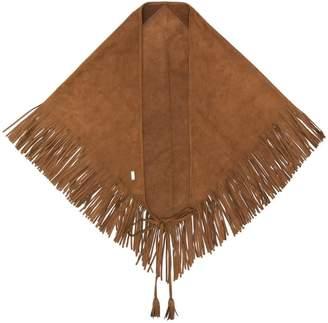 Saint Laurent fringe finish scarf