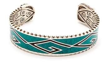 Gucci - Garden Enamel And Sterling Silver Cuff Bracelet - Mens - Silver