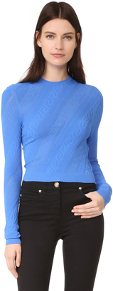 Versace Long Sleeve Top $525 thestylecure.com