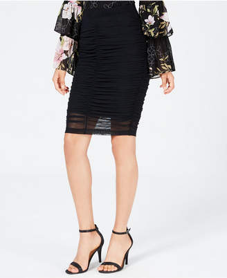 GUESS Odette Ruched Bodycon Skirt